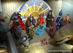 The Star Wars Nativity. Steve's Toy Room celebrates the Christmas Season.
