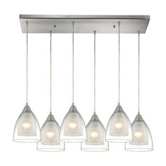 ELK Lighting 10464/6RC Layers Collection Satin Nickel Finish