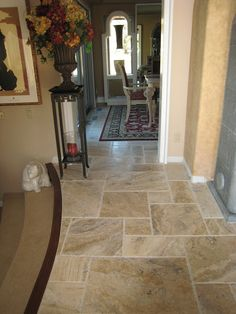 Like the Floor Tile Pattern.  Travertine