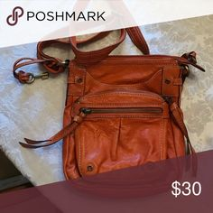 Fossil purse Small orange shoulder bag - 8x10 Fossil Bags Crossbody Bags
