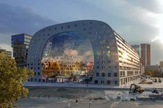 Markthal Rotterdam in Construction