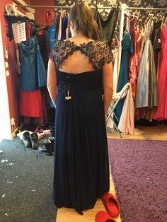 Marinblå balklänning