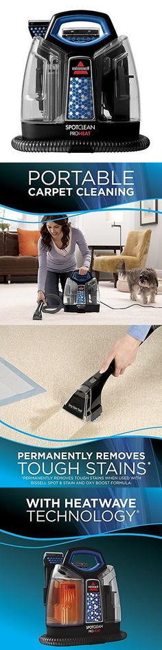Carpet Shampooers 177746: Bissell Spotclean Proheat Portable Upholstery  Stairs Carpet Shampooer Cleaner  U003e BUY