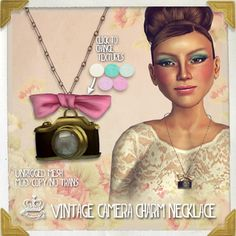 (Yummy) Vintage Camera Charm Necklace