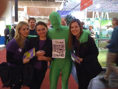 The green man at the CeBit 2012