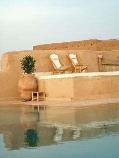 poolside in marrakech, morocco.