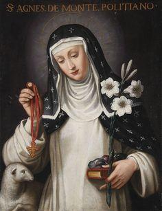 St Agnes of Montepulciano with Attributes, eighteenth century, Italian School