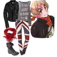 """Hetalia punk england!!"" by stephihunt on Polyvore"