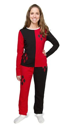 Harley Quinn Ladies' Pajama Set - Red, from ThinkGeek