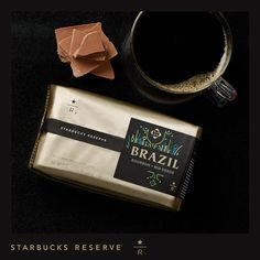 """Starbucks Reserve® Brazil Bourbon Rio Verde ○ """"Sweet plum and milk chocolate notes with a creamy finish"""" ○ $12.95"""