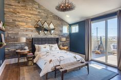 30 Modern and Elegant Bedroom Design Decorated with Stikwoods Accent Wall Bedroom, Wood Bedroom, Home Decor Bedroom, Bedroom Modern, Elegant Bedroom Design, New Homes, House Design, Interior Design, Diy Wood