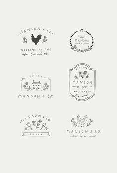 Logo Floral, Inspiration Logo Design, Zentangle, Farm Logo, Hand Drawn Logo, Shop Logo, Business Logo, Business Cards, Branding Design