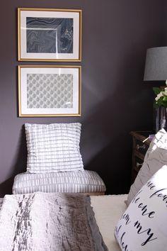 appealing plum bedroom decor   Master Bedroom Sneak Peek! {Black Frosted Plum Walls ...