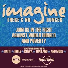 Imagine there's no #hunger