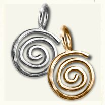Sterling Silver & 14K Gold Hurricane Charm