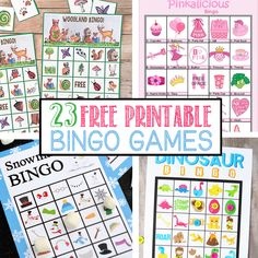 Bingo is, hands-down, one of our favorite activities. I have rounded up 23 of the best free printable bingo games. There are so many to choose from! Abc Bingo, Free Printable Bingo Cards, Bingo Template, Free Printables, Kindergarten Games, Preschool Games, Preschool Class, Christmas Bingo Printable, Halloween Bingo