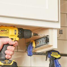 How to Build an Under-Cabinet Drawer (DIY) | Family Handyman Clever Kitchen Storage, Kitchen Cabinet Organization, Storage Cabinets, Diy Storage, Extra Storage, Storage Ideas, Diy Organization, The Family Handyman, Under Cabinet Drawers