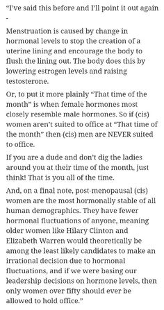 Hormones and females