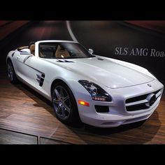 White Mercedes SLS AMG Roadster