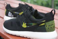 Nike Roshe Run Black Oregon Ducks Football Custom