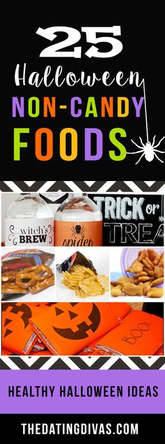 There are so many other treats that aren't candy but still perfect for Halloween! www.TheDatingDivas.com
