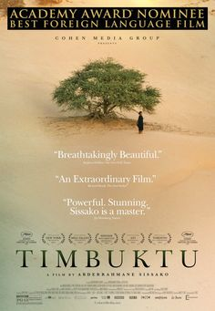 Critics Consensus: Gracefully assembled and ultimately disquieting, Timbuktu is a timely film with a powerful message. Critics Consensus: Gracefully assembled and ultimately disquieting, Timbuktu is a timely film with a powerful message. Movie To Watch List, Good Movies To Watch, See Movie, Movie List, Great Movies, Movie Tv, New Movies Coming Soon, Cinema Posters, Movie Posters