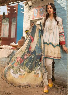 M Prints Maria B Printed Embroidered Lawn Collection consists of beautiful 3 piece lawn printed embroidered designer suits in reasonable prices Pakistani Dresses Casual, Pakistani Dress Design, Pakistani Designers, Maria B, Winter Collection, Dress Collection, Pakistani Culture, Chiffon, Silk Dupatta
