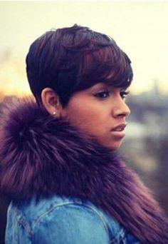 20 Short Pixie Haircuts for Black Women - Best Short Haircuts. teamblackhurromg http://www.shorthaircutsforblackwomen.com/coconut-oil-for-hair