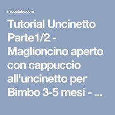 Tutorial Uncinetto Parte1 2 - Maglioncino aperto con cappuccio  all uncinetto per Bimbo 3-5 mesi 64804fc0c578