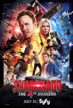 Directed by Anthony C. With Ian Ziering, Tara Reid, Masiela Lusha, Cody Linley. Fin, his family and the cosmos have been blissfully… Cody Linley, Tara Reid, Movies And Series, Movies And Tv Shows, Tornados, Sharknado 4, Sharknado Movies, Ian Ziering, Science Fiction