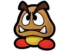 Someone found the unbeatable Goomba in Super Mario 64 Super Mario Room, Lego Super Mario, Super Mario Art, Super Mario World, Paper Mario Sticker Star, Nintendo Characters, Graffiti Lettering, Disney Villains, Body Painting