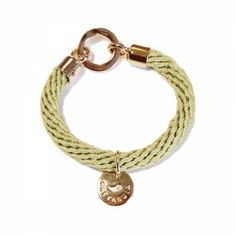 Lacrom Store || Gattabuia, jewellery, bracelet  Bracelet made from rope and nickel free light gold accessories featuring a little decorative logo. Comes with cotton dust bag with stripes.