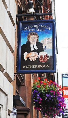 The Lord Moon of the Mall pub sign, The Mall, London SW1