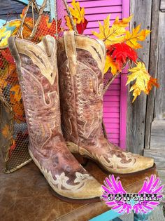 Cowgirl Clad Company - Corral Crackle Distressed Cognac Cowgirl Boot  R2227, $250.00 (http://www.cowgirlclad.com/corral-crackle-distressed-cognac-cowgirl-boot-r2227/)