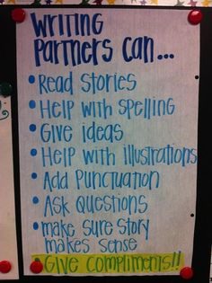 Writing Anchor Chart - Great, especially if you take the time to do a writer's workshop in your classroom!