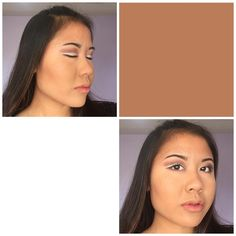 Brownish/neutral look: for the crease I used a light brown then added a darker shade of brown towards the end of the crease, I applied some white eyeliner for the base and made a wing, then I used a black eyeliner to make another wing over the white liner. #bhcosmetics #wetnwild #emcosmetics #maybelline #buxom #nyxcosmetics #rimmellondon #hardcandy #essence #foundation #eyebrows #eyes #eyebrows #mascara #eyeshadow  #contour #highlight #highlighter #brushes #eyeliner #eyebrowpencil #concealer…