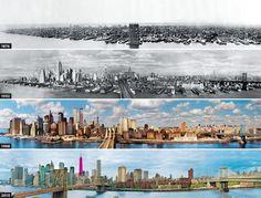 De evolutie van de skyline van New York: van 1876 tot 2013