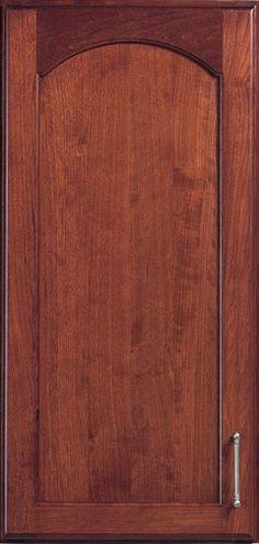 Door Styles: Cherry Petersburg Arch - Visit Showroom in Columbus Ohio - Kitchen Kraft Inc, Kitchen Cabinets Remodeling. - Door Style : Petersburg Arch  Door Type : Flat Panel  Finish : 300, Fireside  Material : Cherry