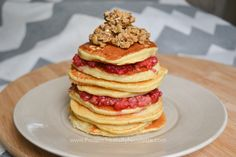 Cornmeal Pancakes with Berry Compote