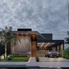 Modern House Facades, Modern Exterior House Designs, Dream House Exterior, Modern Architecture House, Exterior Design, Architecture Building Design, Home Building Design, Facade Design, House Outside Design