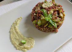 Riso rosso integrale con asparagi e carciofi