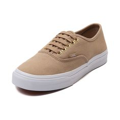Shop for Vans Authentic Slim Skate Shoe in Khaki at Journeys Shoes. Shop today for the hottest brands in mens shoes and womens shoes at Journeys.com.Look as good as gold with the new Authentic Slim Skate Shoe from Vans! This Authentic Slim skate shoe features a sleek, updated design with a khaki twill upper, lace-up closure with gold-tone eyelets, and durable rubber micro-waffle sole. Available only online at Journeys.com and SHIbyJourneys.com!
