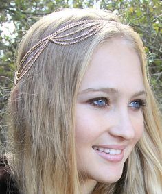 Love this LovMely Gold Boho Draped Headpiece by LovMely on #zulily! #zulilyfinds