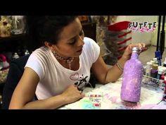 Como decorar una botella con goma eva. - YouTube