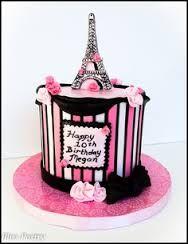 Paris Birthday A pink and black Paris themed birthday cake Paris Birthday Cakes, Paris Themed Cakes, Sweet 16 Birthday Cake, Paris Cakes, Cupcake Birthday Cake, Themed Birthday Cakes, Cupcake Cakes, Purple Birthday, 12th Birthday