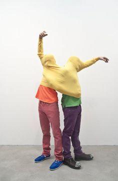 Erwin Wurm x Walter van Beirendocnk, Double T-Shirt - Peformative Sculpture