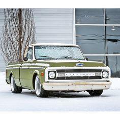 """Cold weather testing.  #c10 #suspension #c10trucks #chevrolet #chevyC10 #classictrucks #hotrod #custom #roadstershop #roadstershopsuspension…"""