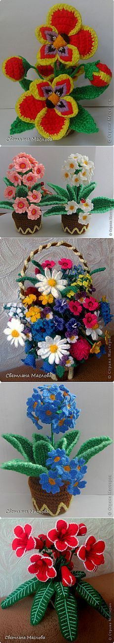 Красивые цветы крючком Светланы Масловой/страна мастеров.