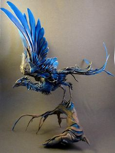 This is a sculpture done by a Canadian Artist , Ellen Jewet. To have your own custom creature made for you visit her shop on Etsy at: http://www.etsy.com/listing/88607819/custom-order-large-personal-creature