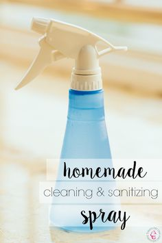 How To Make Homemade Cleaning and Sanitizing Spray With Essential Oils. No harsh chemicals, just 100% natural!